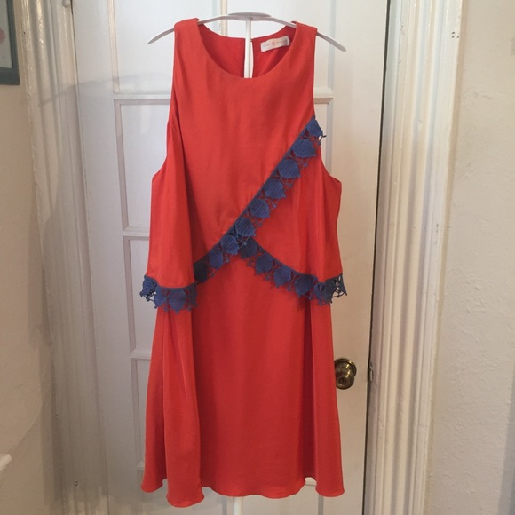 Tory Burch Dresses & Skirts - Tory Burch orange dress 12 AS IS